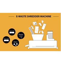 E waste template vector
