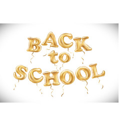 education of back to school label with flying vector image