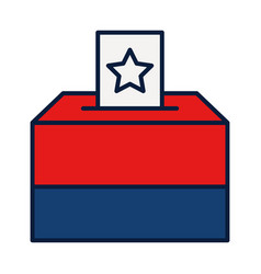 Election polling box icon line and fill style vector