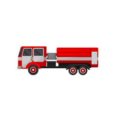 fire truck emergency vehicle side view vector image