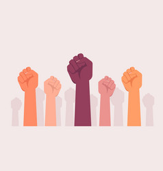 fist protests hands power revolution fight rebel vector image