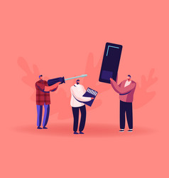 Fixing or assembling smartphone service concept vector