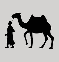 Flat icon on theme arabic business bedouin vector