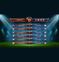 football world cup schedule soccer calendar for vector image