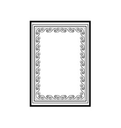frame of wavy line fashion graphic background vector image