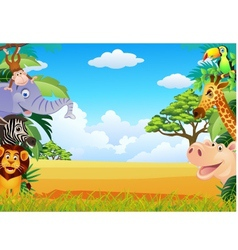 funny animal cartoon vector image vector image