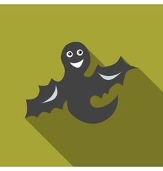 Funny halloween ghost icon flat style vector image