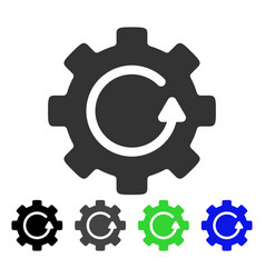 Gear rotation flat icon vector