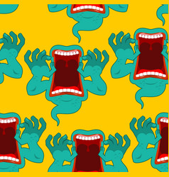 Ghost seamless pattern terrible howling wraith vector