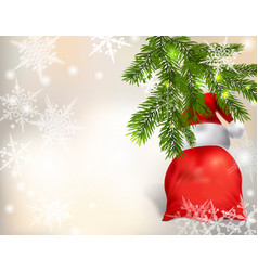 gifts from santa claus under the christmas tree vector image
