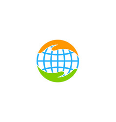 globe care logo icon design vector image