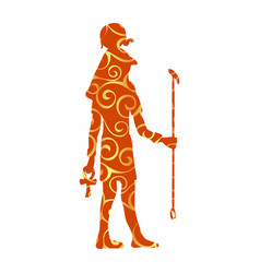 God ra horus egypt egyptian pattern silhouette vector