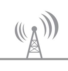 Gray antenna silhouette vector