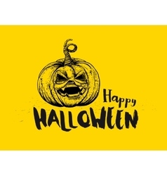Halloween Pumpkin and typography vector image
