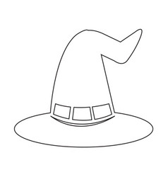 halloween witch hat icon vector image