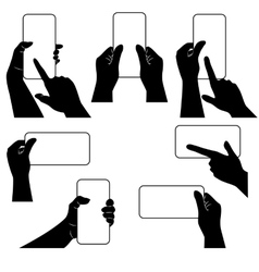 Hands with smartphone and whether other gadget vector image