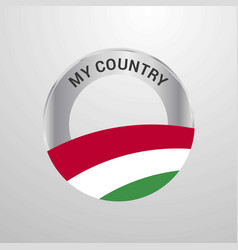 hungary my country flag badge vector image