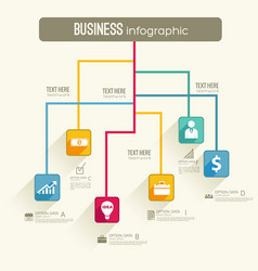 Infographic business workflow template vector