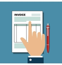 invoice document flat isolated icon vector image