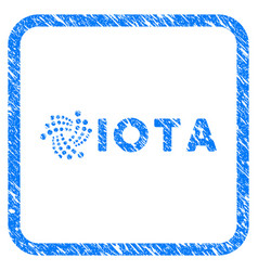 Iota ticker framed stamp vector
