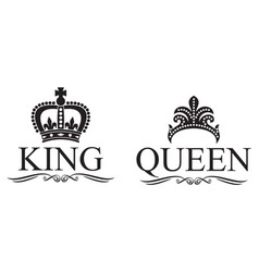 king and queen crowns design vector image