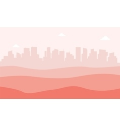 Landscape urban city and desert vector