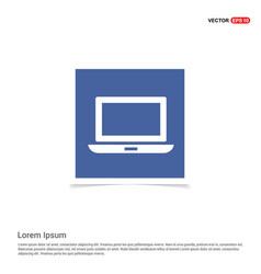 laptop icon - blue photo frame vector image