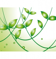 light background with green leaves vector image