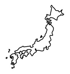 Map of japon icon black color flat style simple vector