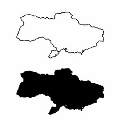 maps of ukraine vector image