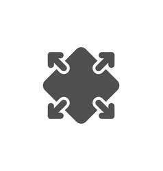 Maximize arrow simple icon full screen sign vector