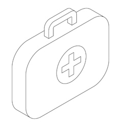 Medical bag icon isometric 3d style vector image