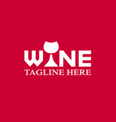 modern wine and bar logo vector image