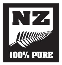 New Zealand Silver Fern vector