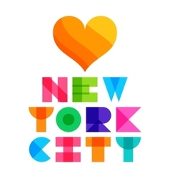 Nyc color text typography t-shirt graphics vector