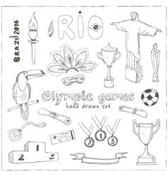 Olympic games Rio 2016 in Brazil vector