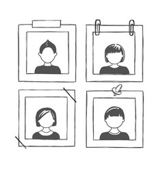 photo frame with people vector image