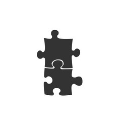 piece puzzle icon isolated modern flat vector image