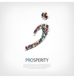 Prosperity people sign 3d vector