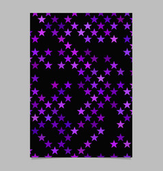 Purple pentagram star shape pattern background vector