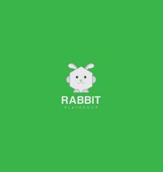 rabbit logo and icon vector image