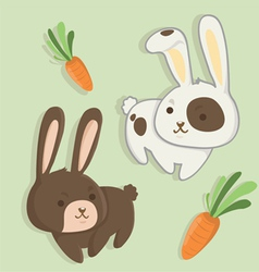 rabbit twins vector image
