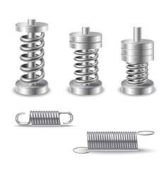 Realistic Metal Springs Devices vector