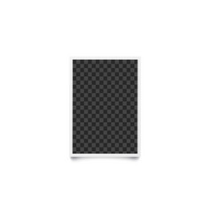 rectangular checkered empty template and photo vector image