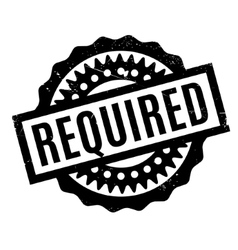 Required rubber stamp vector