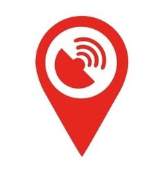 Satellite location pin isolated icon design vector