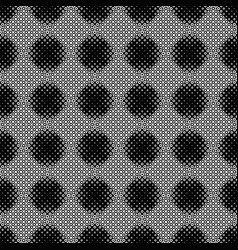 Seamless abstract black and white ring pattern vector