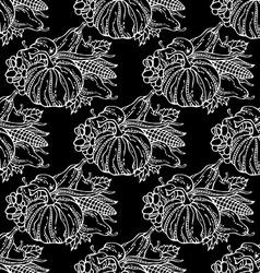 Seamless chalk harvest pattern vector