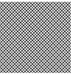 seamless pattern monochrome floral lattice vector image