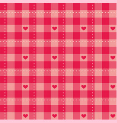 Seamless sweet pink background with hearts vector